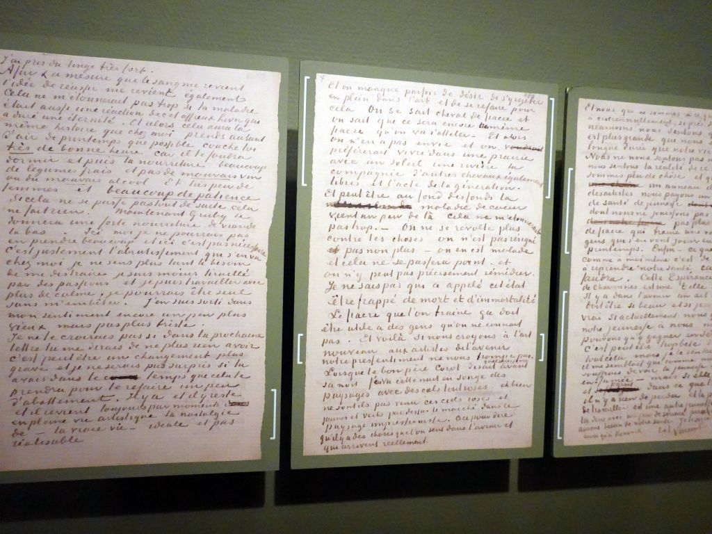 Van Gogh wrote many letters to his bother Teo