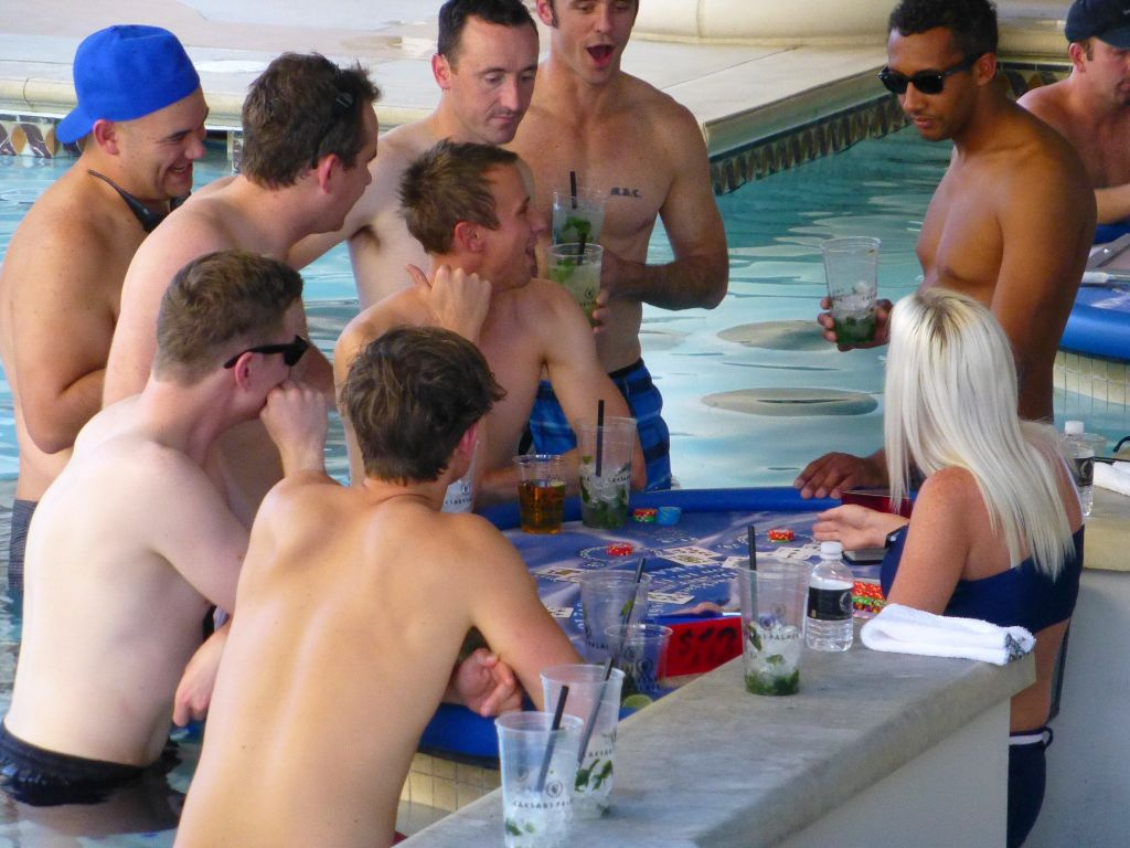 gamble in the pool...