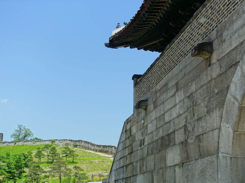Seoul has a very small piece of the city wall left