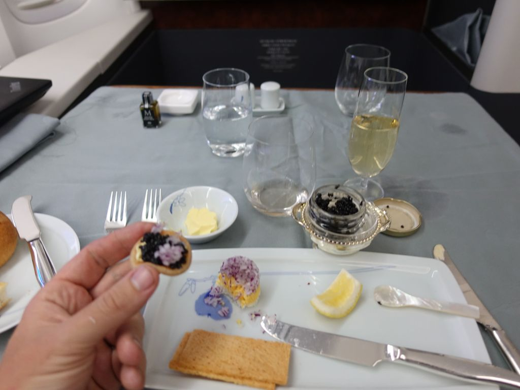 sure, I'll have the caviar, thank you