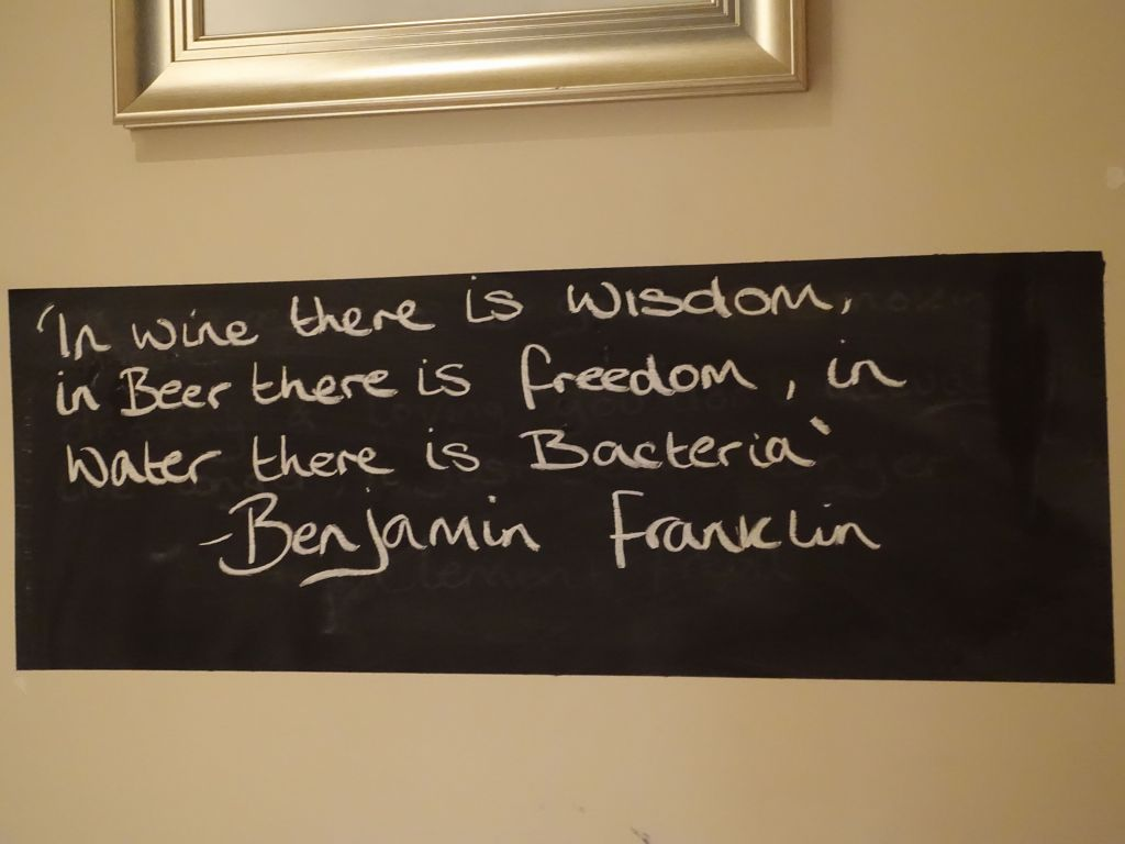 wisdom from the restaurant we had dinner at