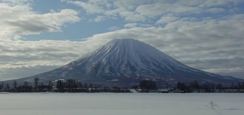 Mt Yotei was a nice volcano visible from all around. Some people hike it up for back country skiing