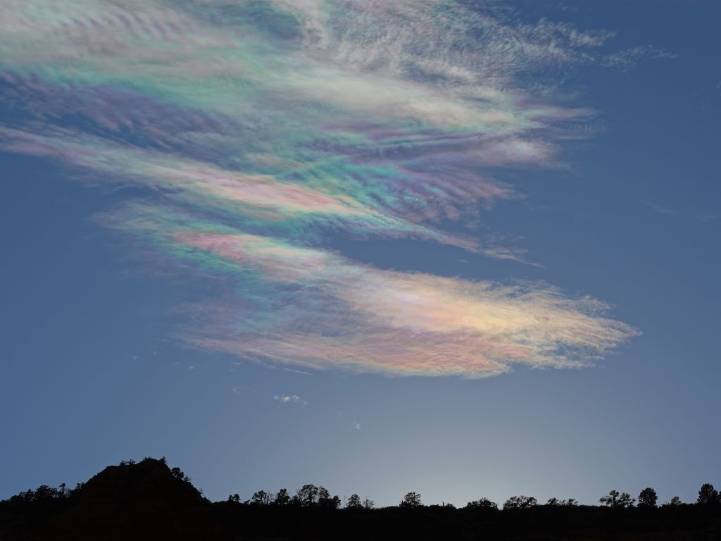 lovely colored clouds