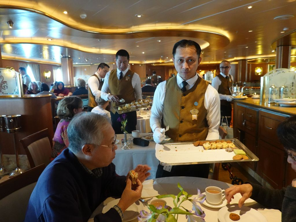 high tea in our dining room (several on the ship, this was the closest one to our cabin)