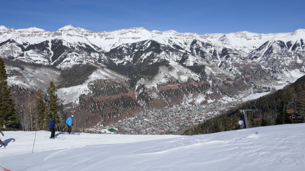 nice view of telluride town