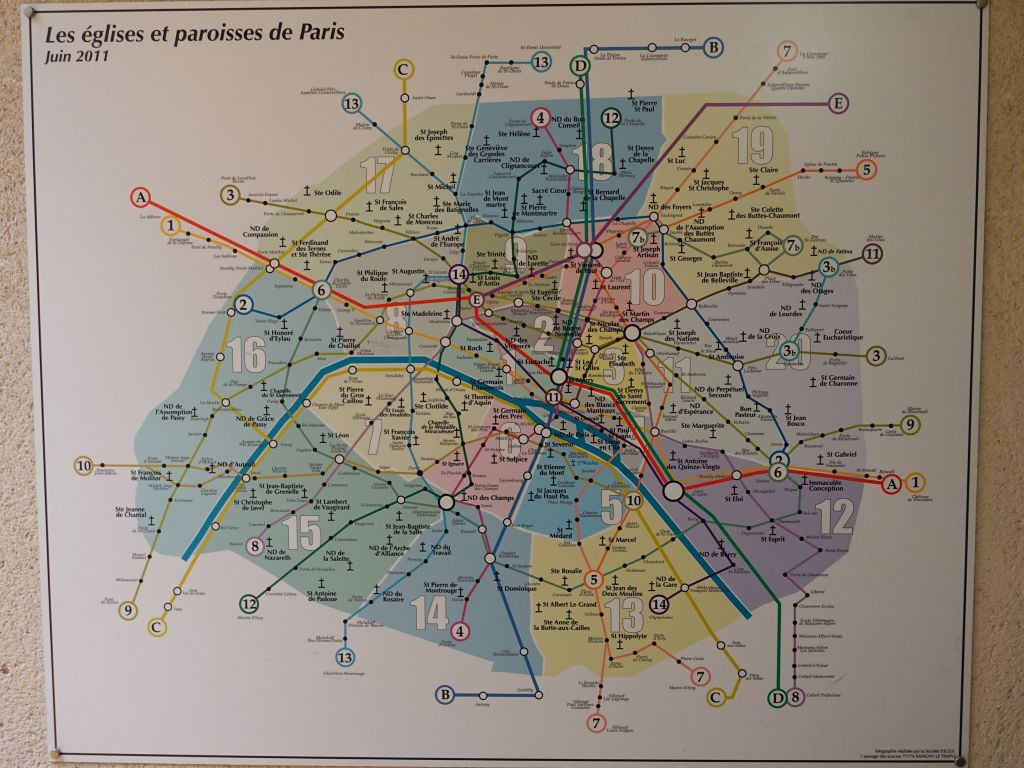 map of all the churches in Paris ;)