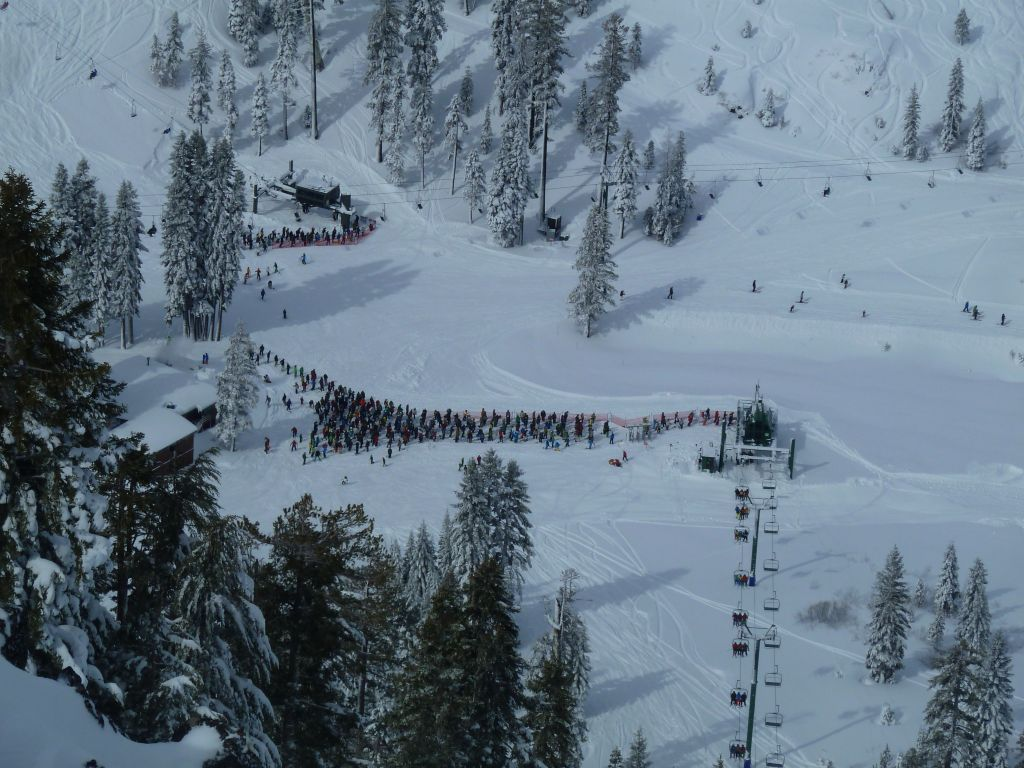 ridiculous line at Scott Chair