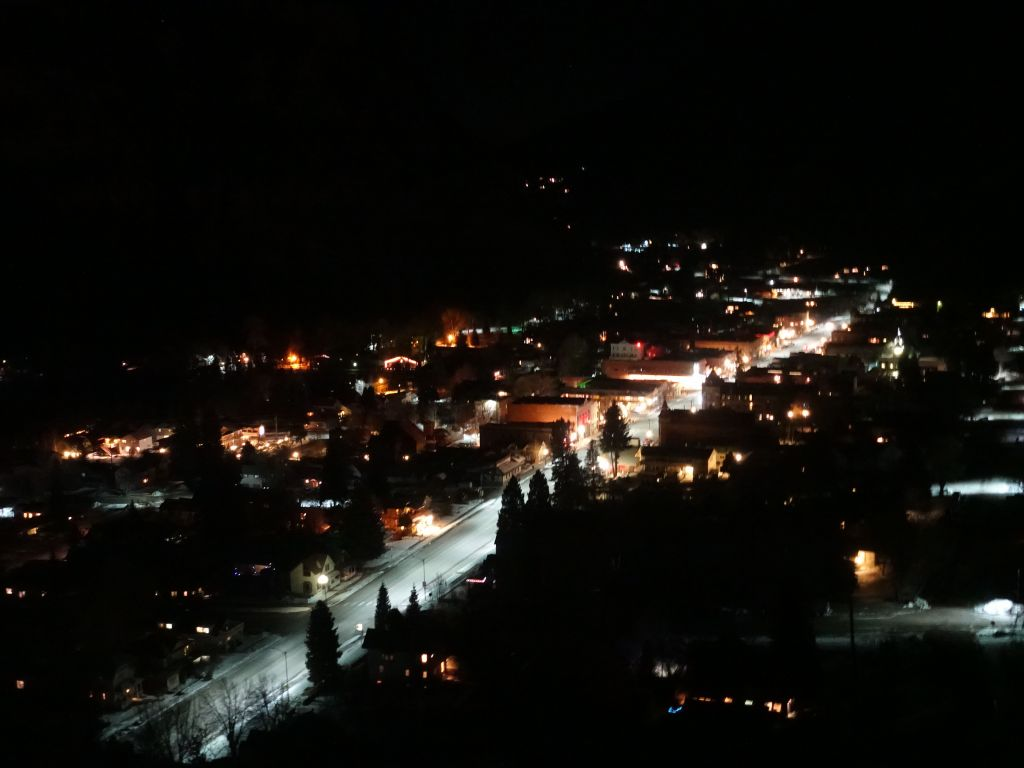 and after driving the million dollar highway at night, we arrived in Silverton
