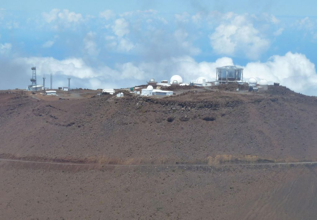The observatories at the top of Haleakala
