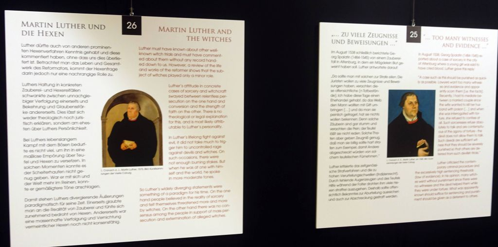 they also had an expo on witch hunting around the Martin Luther era