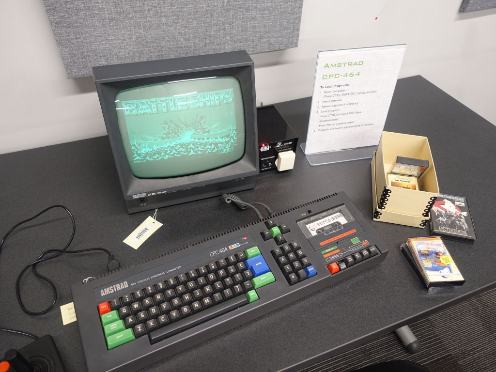 and an Amstrad CPC-464 too