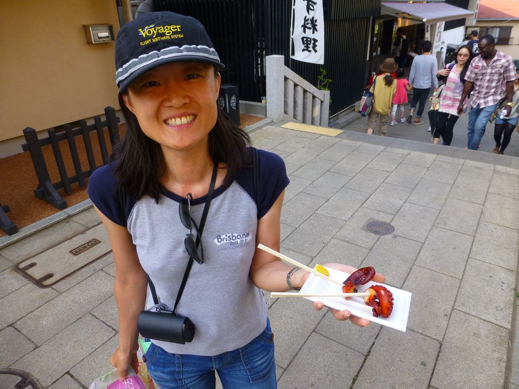 ika on a stick, almost beats ice cream!