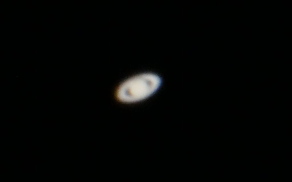 they even had a telescope so that we could see saturn