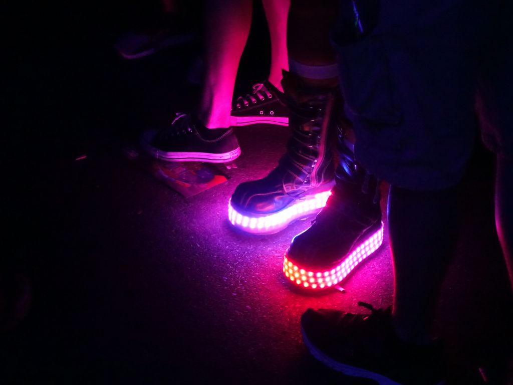 expensive triple row LED shoes