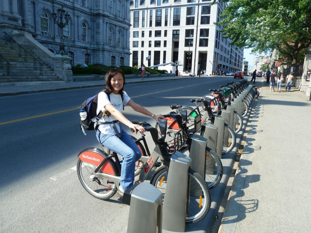 Bixi bikes (like Vélib in Paris), very handy to get around
