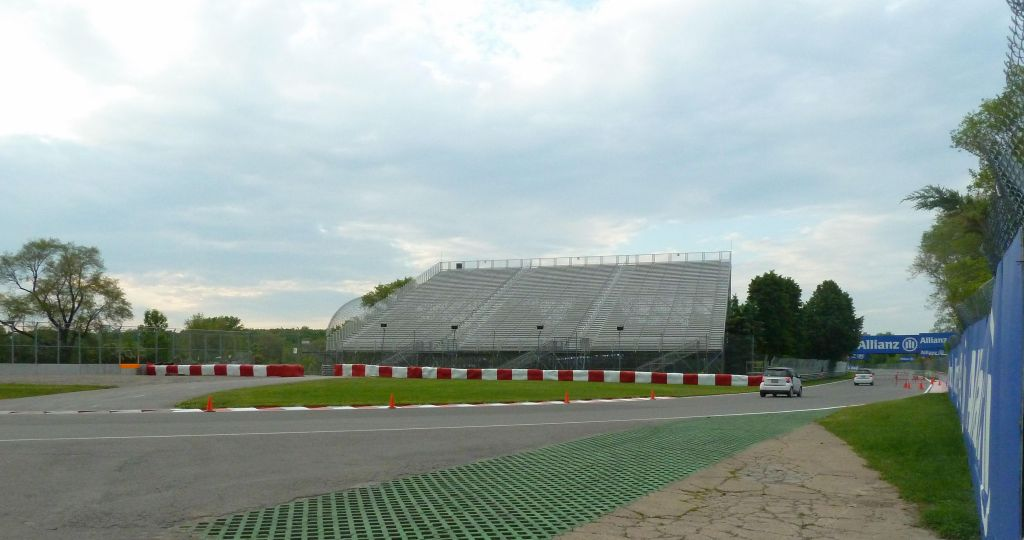 Circuit Gilles Villeneuve on Ile Notre-Dame just before the Grand Prix