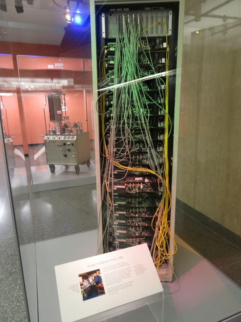 they had a google rack, cool!