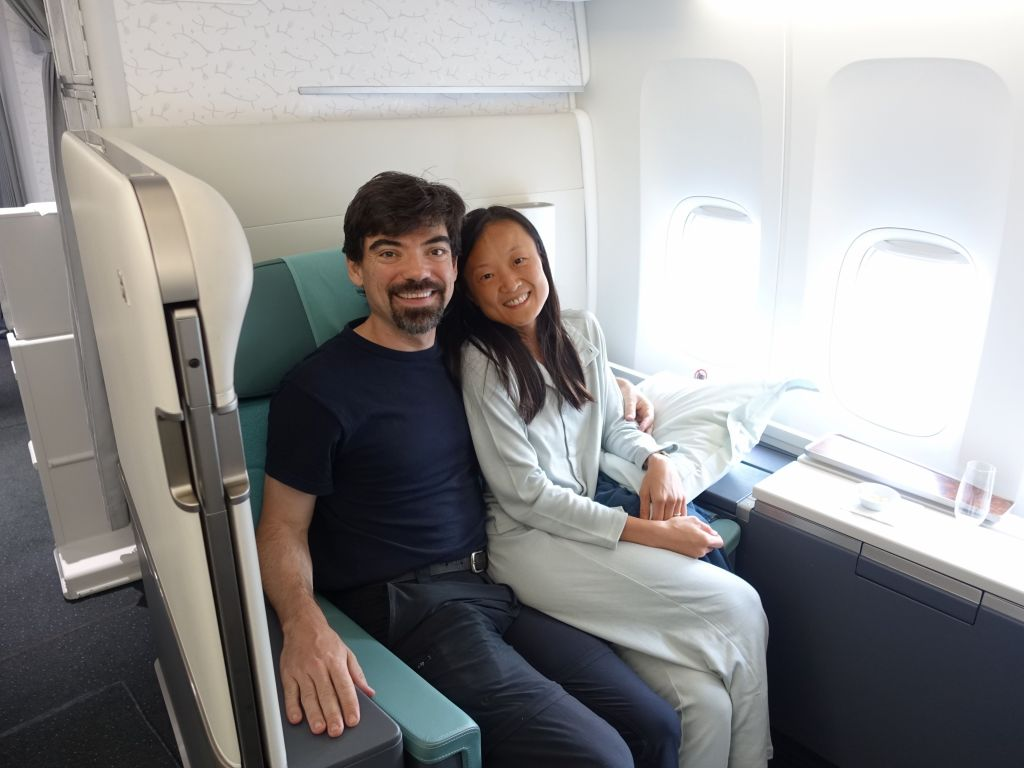 seats weren't quite wide enough for 2 like singapore airlines, but that wasn't a big deal ;)
