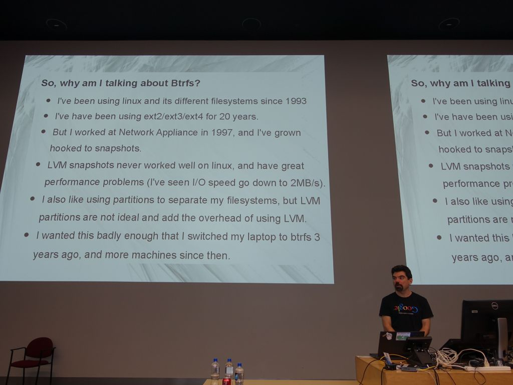 my updated talk on btrfs went well