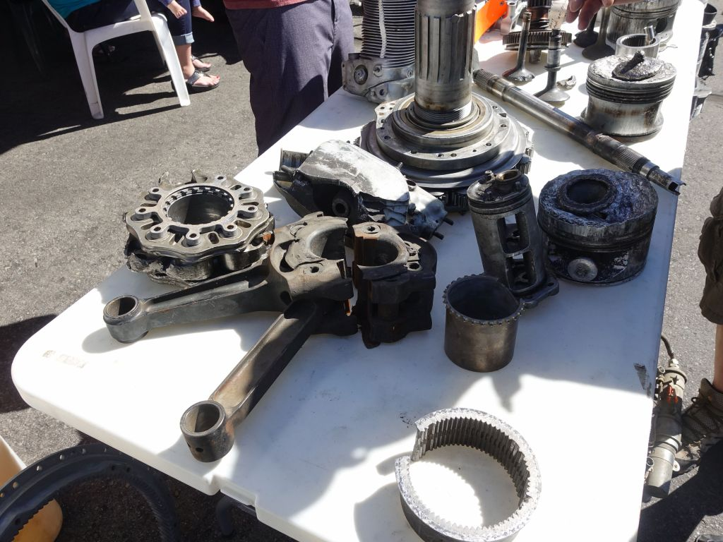 one vendor had a collection of lots of engines parts broken by overwork