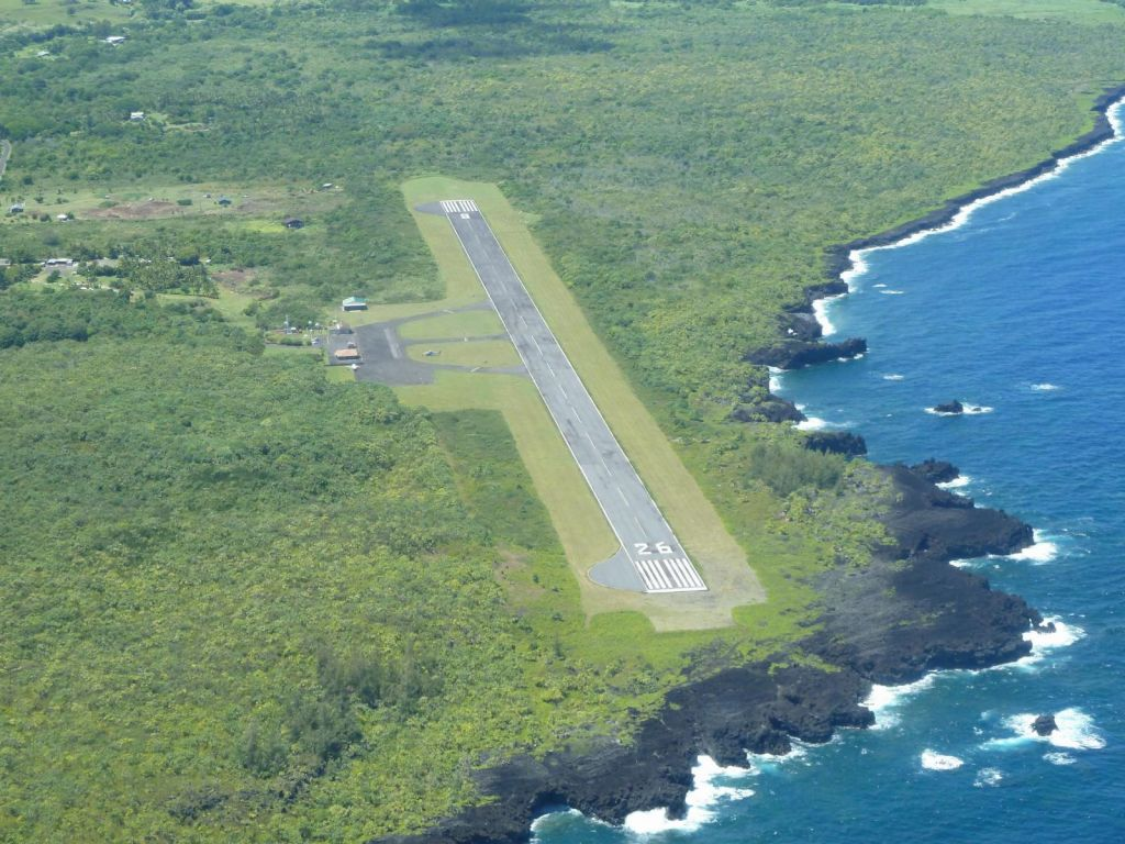 Hana Airport with its Hand Gliding Trike Base