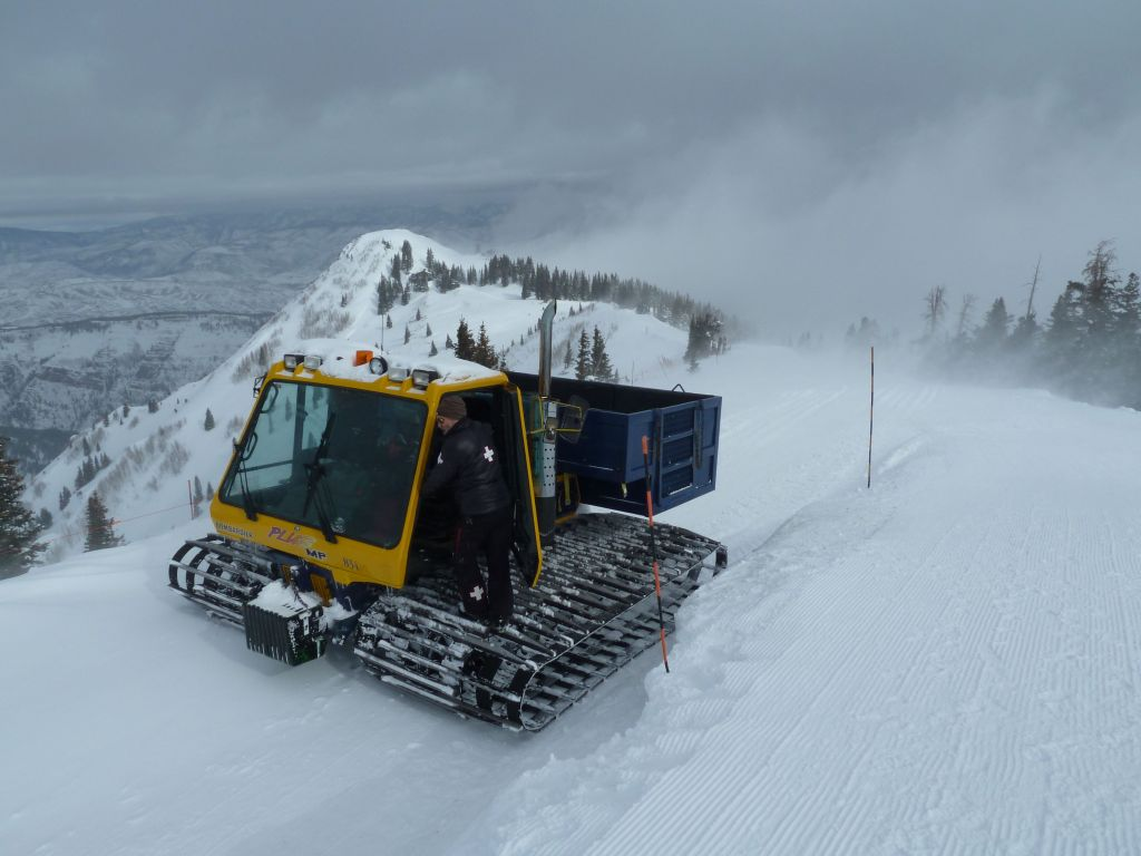 The snowcat takes you higher up the ridge and you can hike the rest