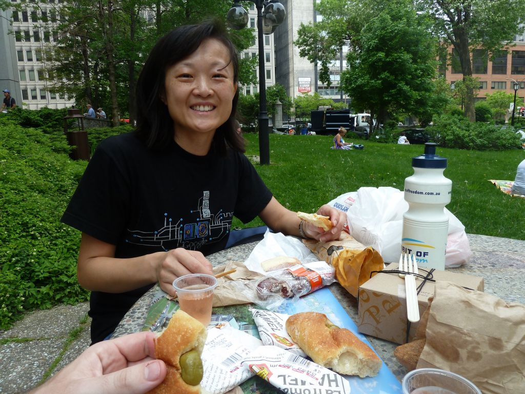picnic by St Patrick's Cathedral
