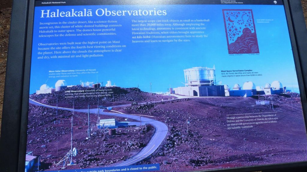 at the top of a bit over 10,000ft, there were a lot of observatories