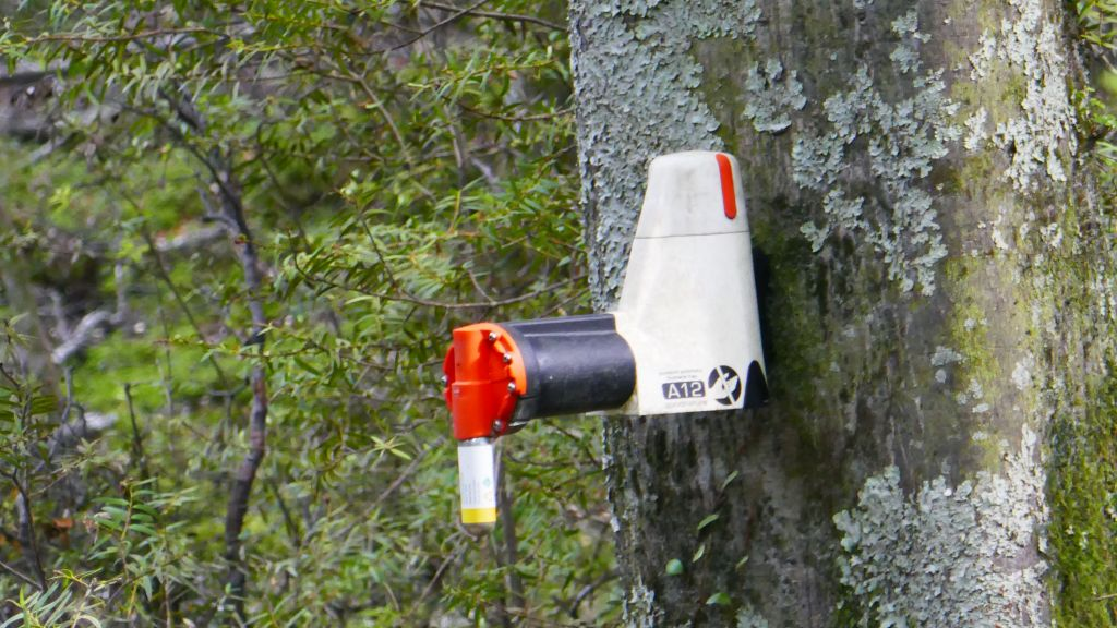 to kill invasive possums, they have this resetable kill traps