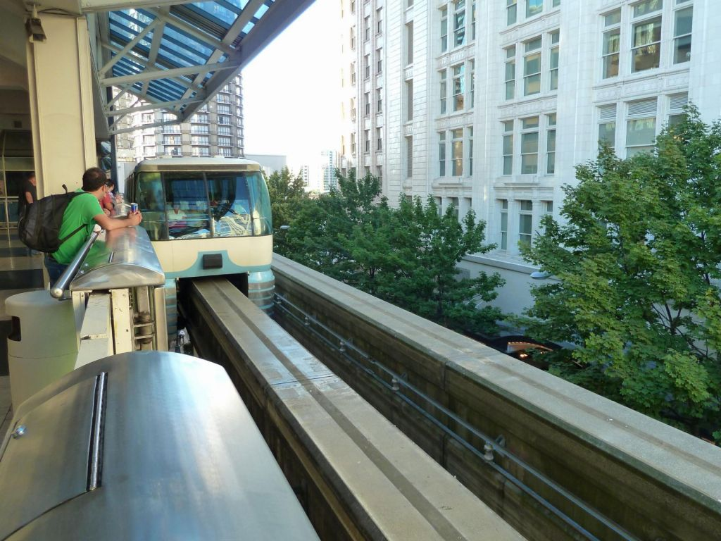 monorail to space needle