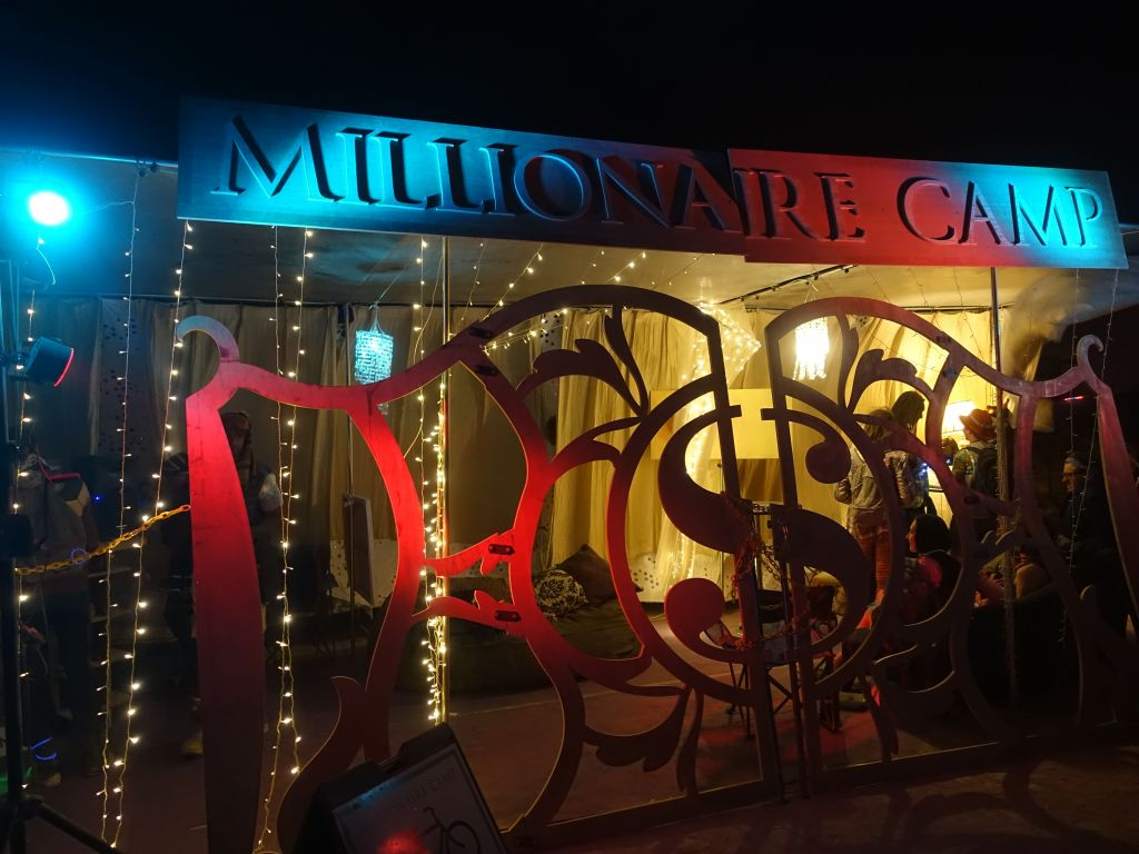 the fake millionaire camp had bouncers to keep the riff raff out :)