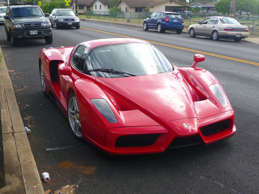 finding an Enzo on a small island which even lacks a road that circles the island ...