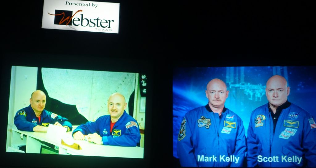 one twin stays on the ground, one goes to space, and they'll compare changes after one year