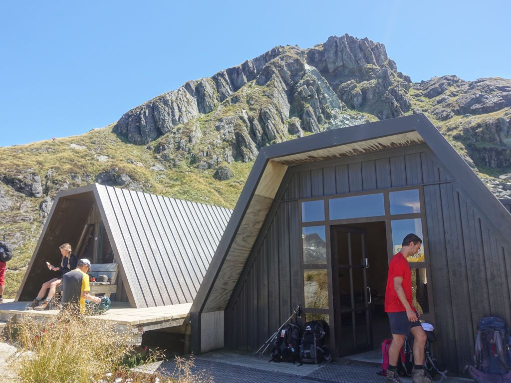 we had a lunch break by saddle shelter huts
