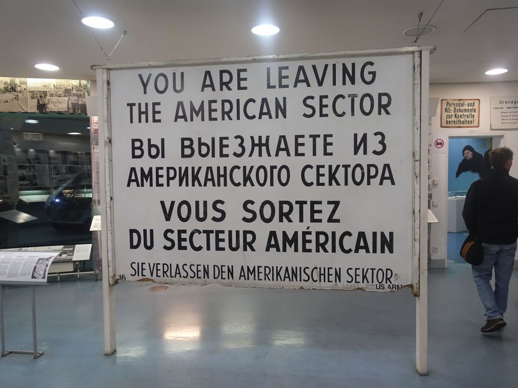 original sign from checkpoint charlie
