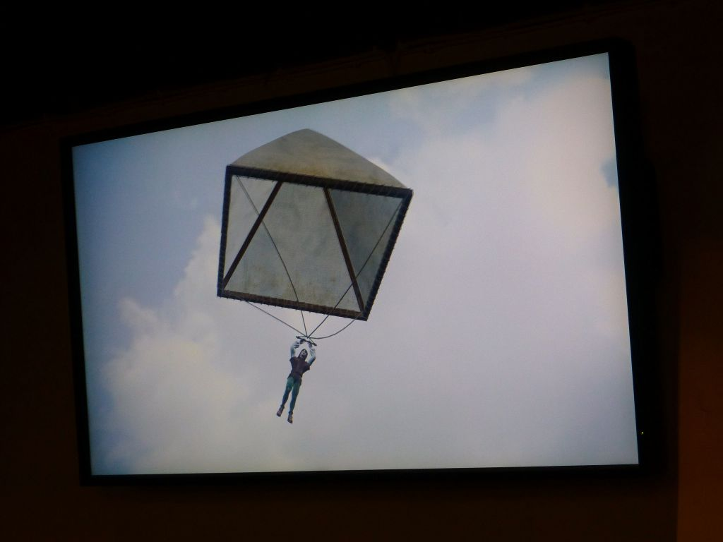 he also figured out the first parachute