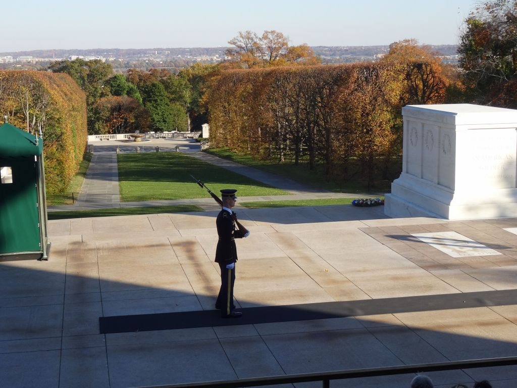 the walk by the unknown soldier is still just as impressive