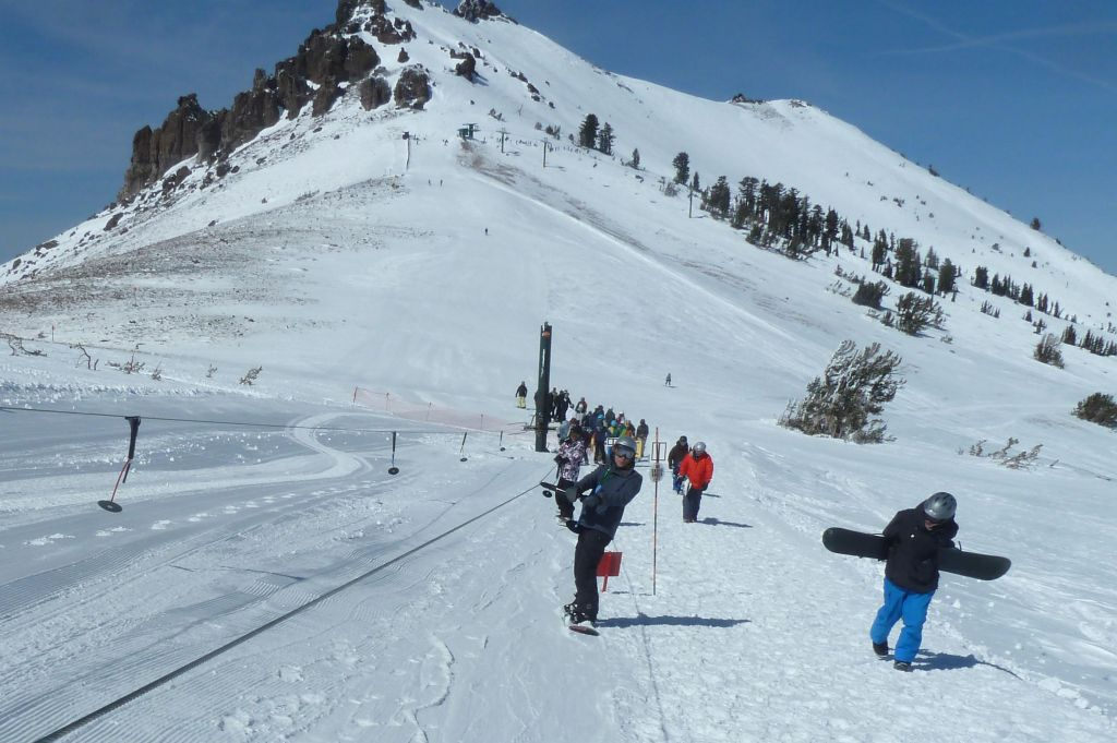 getting to the ski boundary