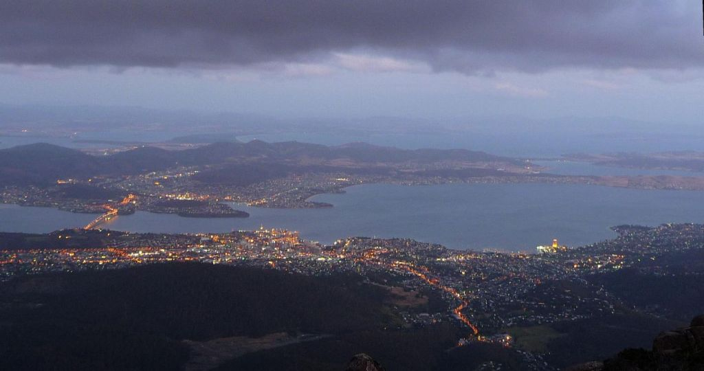 View of Hobart from the top of Mt Wellington (4100ft)