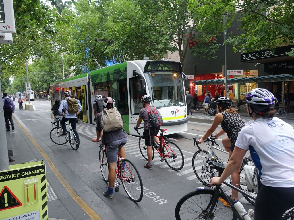 Melbourne does a very good job with public transportation