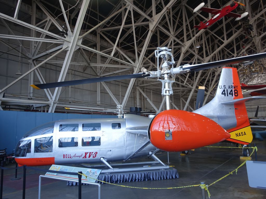 Way before the Osprey, the XV-3, the first tilt rotor aircraft