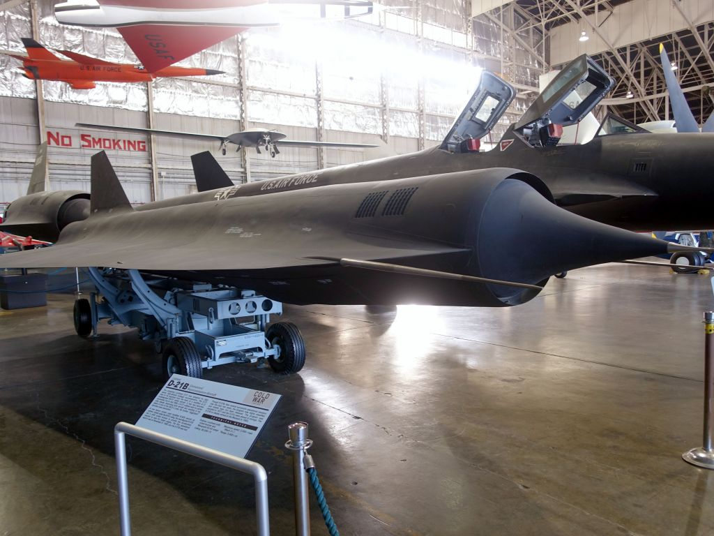 The D-21B was meant to be a drone carried on top of the YF-12A which later became the SR71