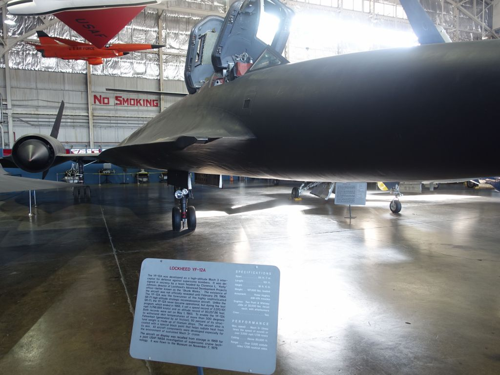 I'm not good enough to tell you how the YF-12A differs from the SR71