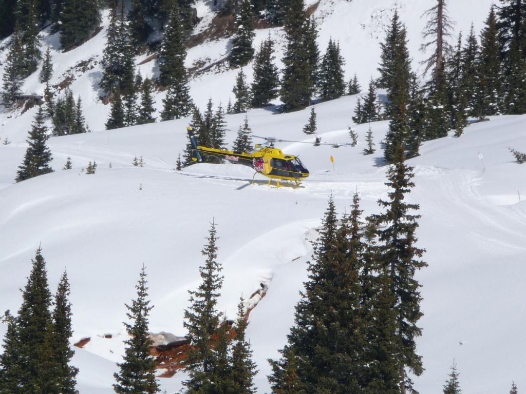 the heli was nice enough to wait for us at the bottom for a 2nd ride
