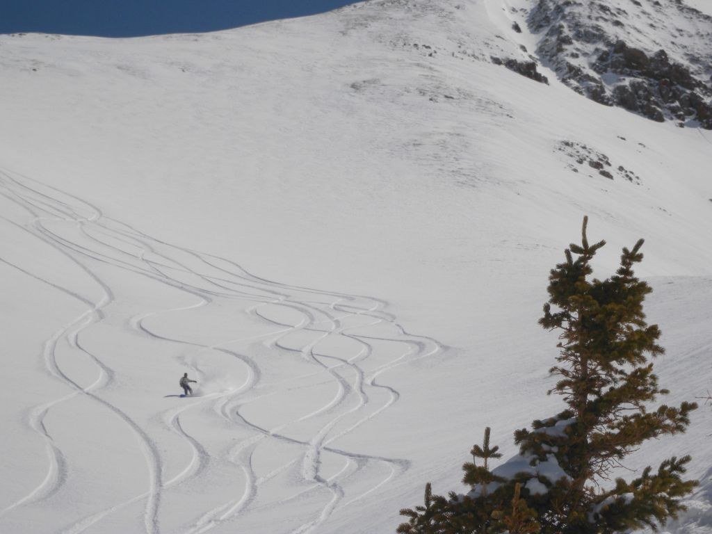 Plenty of powder (and stay between the lines)