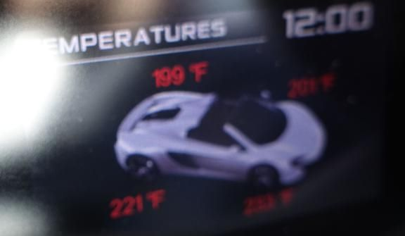 I also reviewed the tire temperatures, and that's probably a good clue of something wrong
