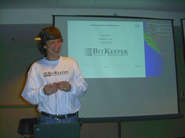 Linuxexpo 1999: Day 2: BitKeep...