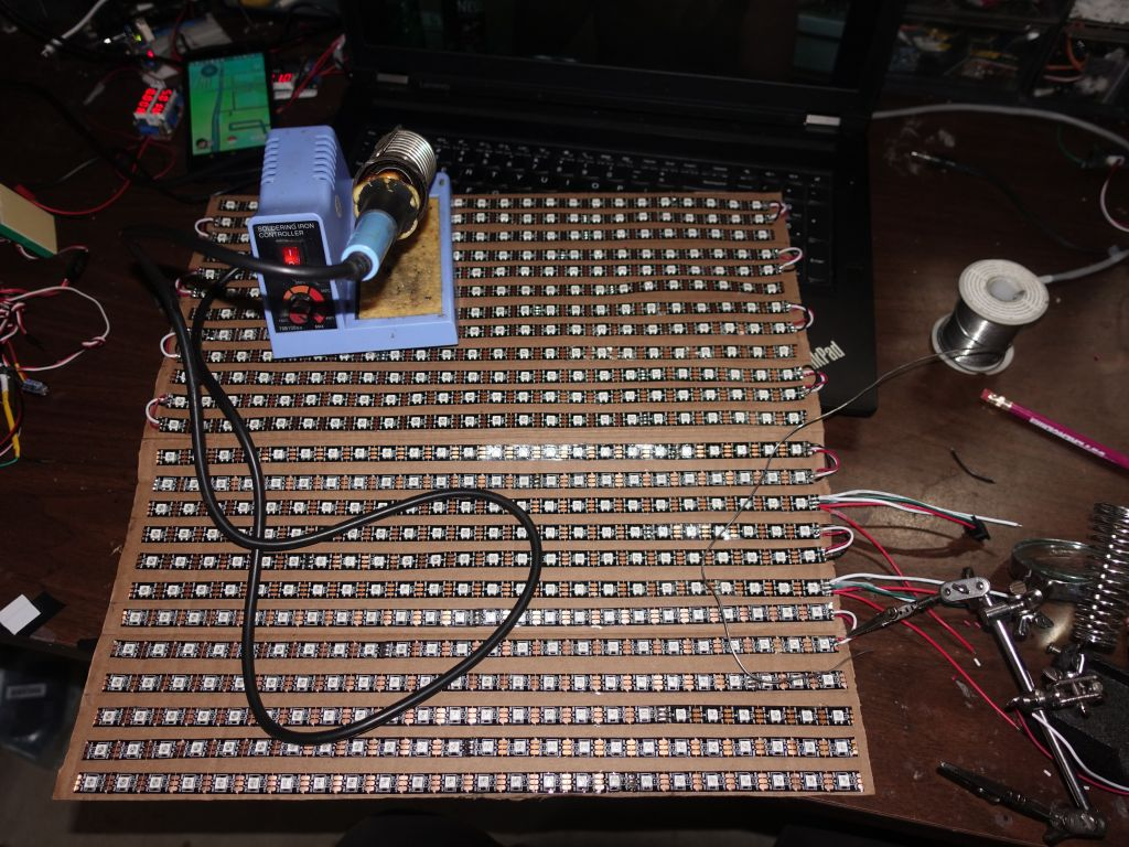 Marcs Public Blog Arduino April 2017 The Whole Circuitry Led Matrix Processor Part Current Drivers Yeah 24x24 One Took Forever To Lay Out Glue And Solder 6h