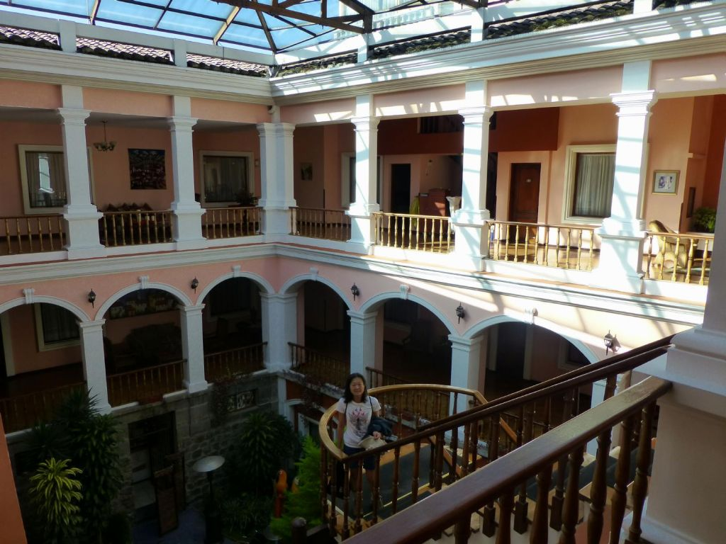Nice colonial hotel we stayed at in old town Quito (Patio Andaluz)