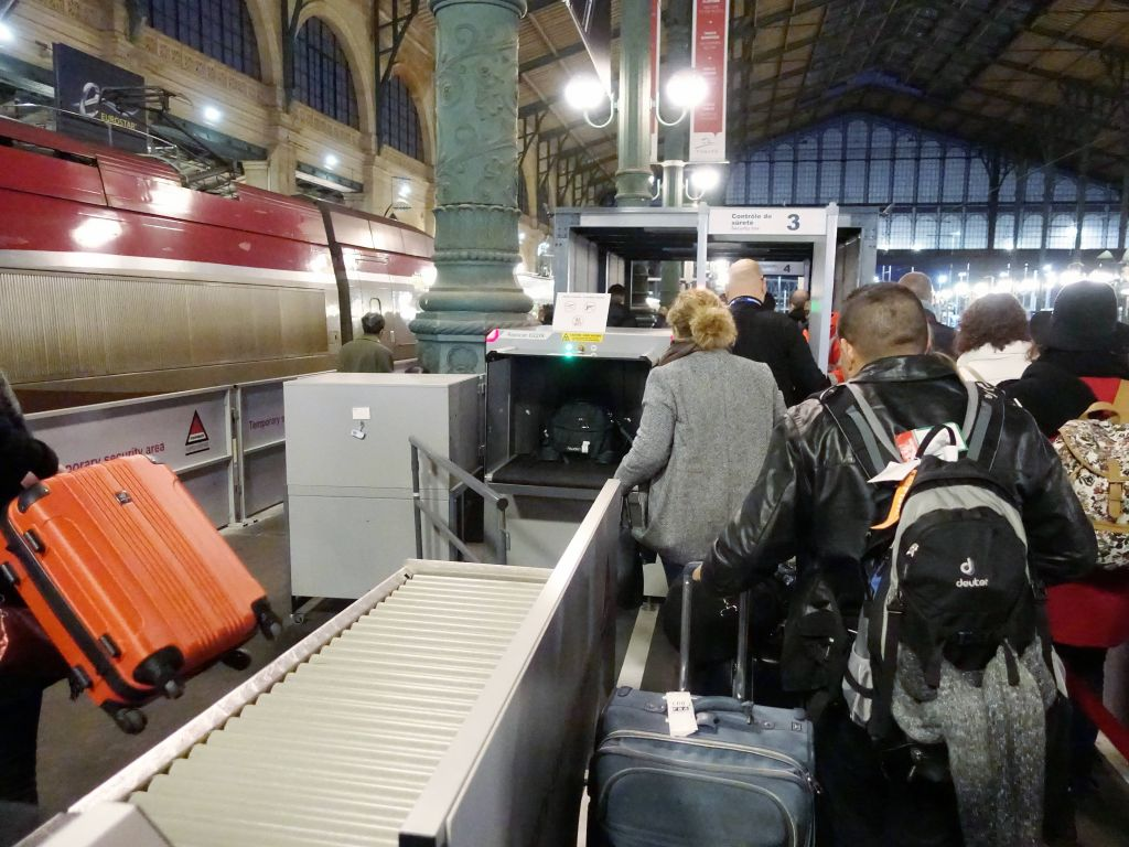 first time I've seen X-Ray machines before boarding a train
